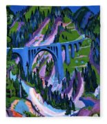 Bridge At Wiesen Fleece Blanket