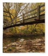 Bridge Between Seasons Fleece Blanket