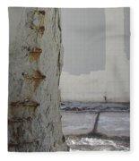 Bridge Column Decay 3 Fleece Blanket