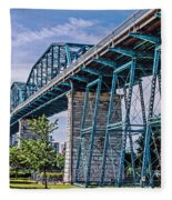 Bridge From The Park Fleece Blanket