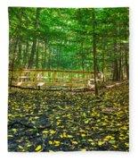 Bridge In Gosnell Big Woods Fleece Blanket