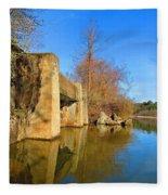 Concrete Trestle Bridge Fleece Blanket