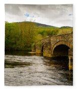 Bridge Near Cymer Abbey Fleece Blanket