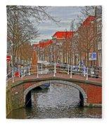 Bridge Of Delft Fleece Blanket