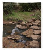 Bridge Of Rocks Across The River Fleece Blanket