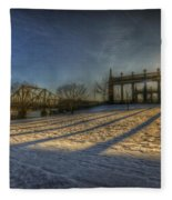 Bridge Of Spy's Sunset. Fleece Blanket
