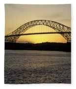 Bridge Of The Americas Panama Fleece Blanket