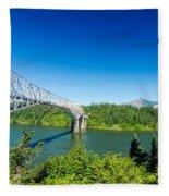 Bridge Of The Gods Fleece Blanket