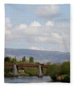Bridge Over A River Fleece Blanket