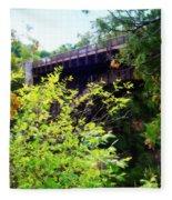 Bridge Over Ausable Chasm Fleece Blanket