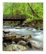 Bridge Over Little Pigeon River Fleece Blanket