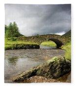 Bridge Over River, Scotland Fleece Blanket