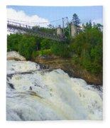 Bridge Over Rushing Water Fleece Blanket