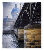 Bridge Over Seine In Paris Fleece Blanket