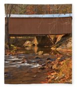 Bridge Over Smith River Fleece Blanket