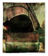 Bridge Over The Canal Fleece Blanket