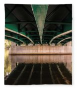 Bridge Over The Connecticut River Fleece Blanket