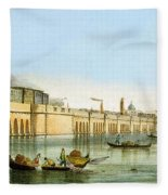 Bridge Over The Lagoon Fleece Blanket