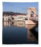 Bridge Over The Rhone River Fleece Blanket