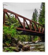 Bridge Over The Snoqualmie River - Washington Fleece Blanket