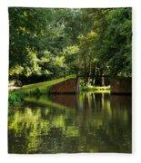 Bridge Over The Wey Navigation In Surrey Fleece Blanket