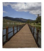 Bridge Over Water Fleece Blanket