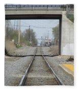 Bridge Overpass Fleece Blanket