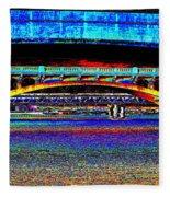 Bridge Panorama Pop Art Fleece Blanket