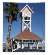 Bridge Street Pier And Clocktower  Fleece Blanket