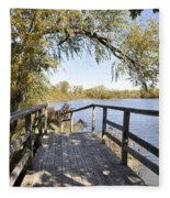 Bridge To Beyond Fleece Blanket