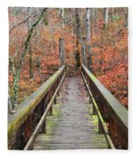 Bridge To Fall Fleece Blanket