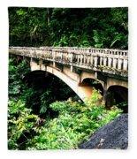 Bridge To Hana Maui Fleece Blanket