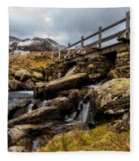 Bridge To Idwal Fleece Blanket