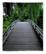Bridge To Japanese Serenity Fleece Blanket