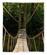 Bridge To The Forest Fleece Blanket