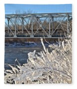 Bridge To Winter Fleece Blanket
