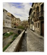 Bridges At Darro Street In Historic Albaycin In Granada Fleece Blanket