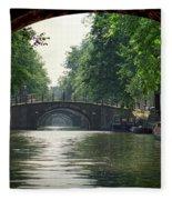 Bridges In Amsterdam Fleece Blanket
