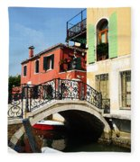 Bridges Of Venice Fleece Blanket