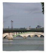 Bridges Over The Seine And Conciergerie - Paris Fleece Blanket