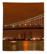 Bridging New Jersey And Pennsylvania Fleece Blanket