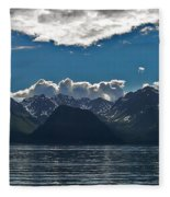 Bright And Cloudy Fleece Blanket