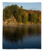 Bright And Sunny Autumn Reflections Fleece Blanket