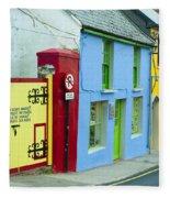 Bright Buildings In Ireland Fleece Blanket