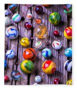 Bright Colorful Marbles Fleece Blanket