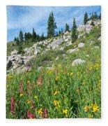 Bright Colors Of A Colorado Summer Fleece Blanket