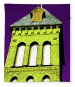 Bright Cross Tower Fleece Blanket