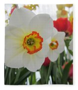 Bright Daffodils Fleece Blanket