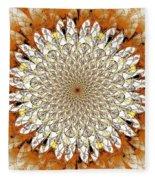 Bright Flower Fleece Blanket