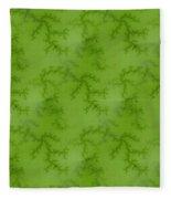 Bright Green Fractal Fleece Blanket